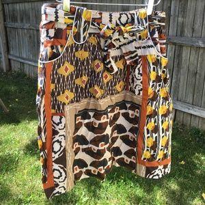 Harrods African Print Skirt